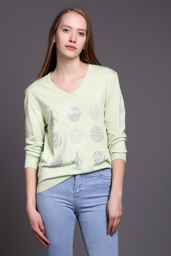 Пуловер PezzoПуловеры<br><br><br>Размер RU: 54<br>Пол: Женский<br>Возраст: Взрослый<br>Материал: полиамид 19%, вискоза 81%<br>Цвет: Зелёный