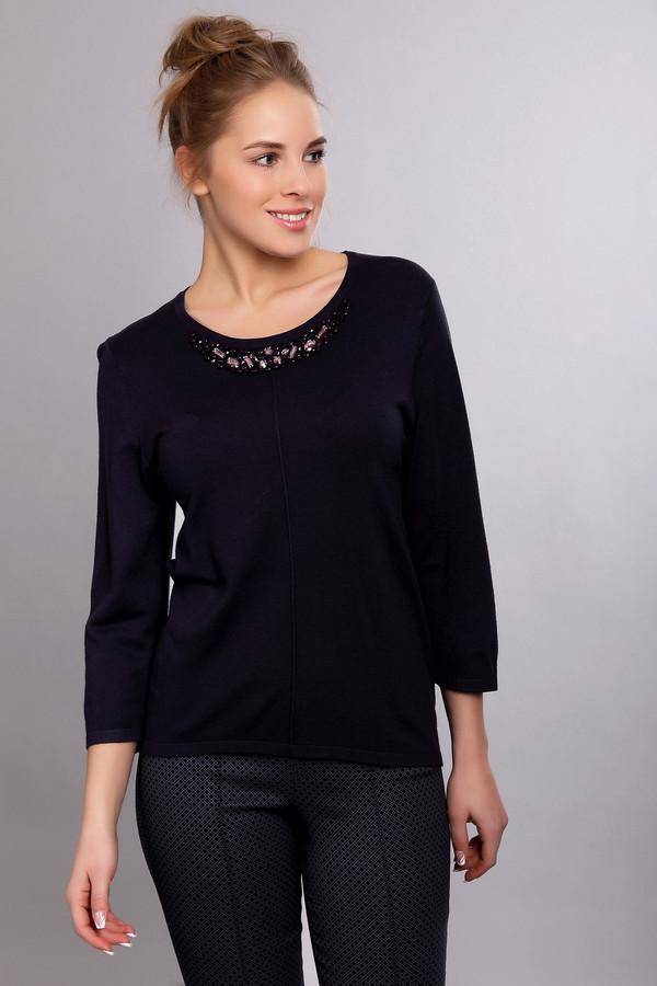 Пуловер PezzoПуловеры<br><br><br>Размер RU: 44<br>Пол: Женский<br>Возраст: Взрослый<br>Материал: полиамид 19%, вискоза 81%<br>Цвет: Синий
