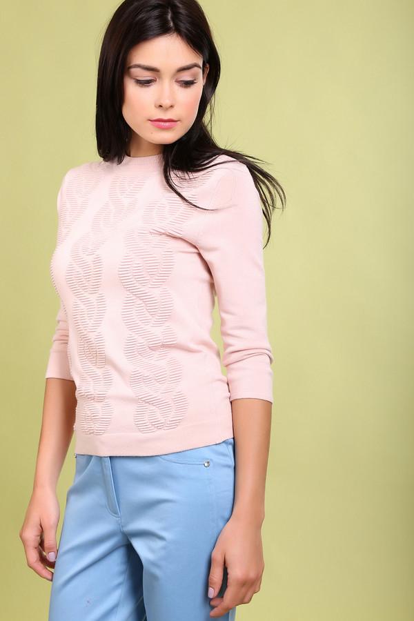 Пуловер Just ValeriПуловеры<br><br><br>Размер RU: 44<br>Пол: Женский<br>Возраст: Взрослый<br>Материал: эластан 2%, полиамид 17%, вискоза 81%<br>Цвет: Розовый