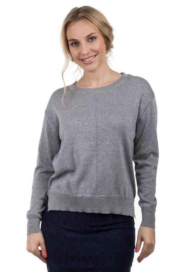 Пуловер Via AppiaПуловеры<br>Пуловер Via Appia серого цвета с элегантными разрезами на боках. Пуловер изготовлен из натуральных материалов и украшен серебристой полосой проходящей от горловины до основания одежды. В сочетании с юбкой и правильно подобранной бижутерией может соответствовать деловому стилю. Прекрасно подойдет для ежедневного использования.<br><br>Размер RU: 48<br>Пол: Женский<br>Возраст: Взрослый<br>Материал: шерсть 13%, хлопок 23%, вискоза 38%, металл 26%<br>Цвет: Серый