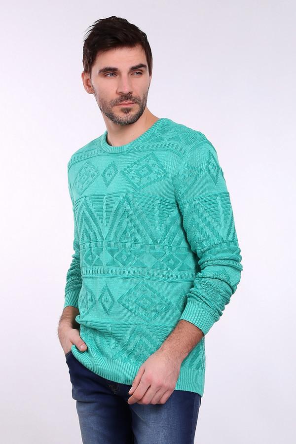 Джемпер PezzoДжемперы и Пуловеры<br><br><br>Размер RU: 54<br>Пол: Мужской<br>Возраст: Взрослый<br>Материал: вискоза 53%, хлопок 47%<br>Цвет: Зелёный