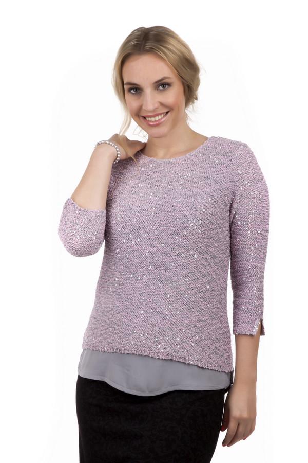 Пуловер Via AppiaПуловеры<br>Пуловер Via Appia розового цвета, украшен крупными блестками, а также вставкой из серой ткани в нижней части одежды. Рукава 3\4, у основания имеют разрезы для более комфортного ношения. Пуловер изготовлен из хлопка и полиэстра, благодаря чему обеспечит вас теплом в самое холодное время года. Сдержанный стиль позволит носить такую одежду, как на работу, так и на прогулку с друзьями.<br><br>Размер RU: 48<br>Пол: Женский<br>Возраст: Взрослый<br>Материал: хлопок 30%, полиамид 30%, полиэстер 40%<br>Цвет: Серый