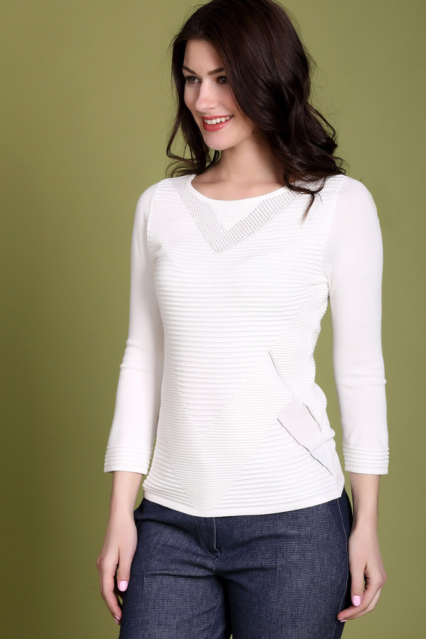 Пуловер CommaПуловеры<br><br><br>Размер RU: 44<br>Пол: Женский<br>Возраст: Взрослый<br>Материал: полиамид 18%, вискоза 82%<br>Цвет: Белый