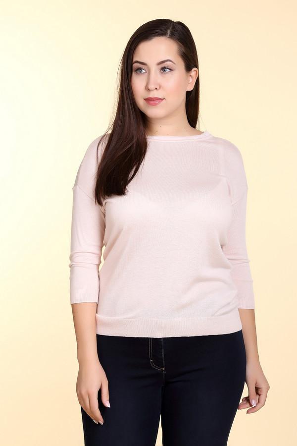 Пуловер CommaПуловеры<br>Пуловер розового цвета фирмы Comma. Ткань состоит из 55% вискозы и 45% полиамида.. Модель прямого покроя. Пуловер дополнен овальным воротом, приспущенным рукавом 3 /4 длинны. Задняя часть полотна выполнена ажурной вязкой. Пуловер в сочетании с узкими брюками создает трендовый комплект.