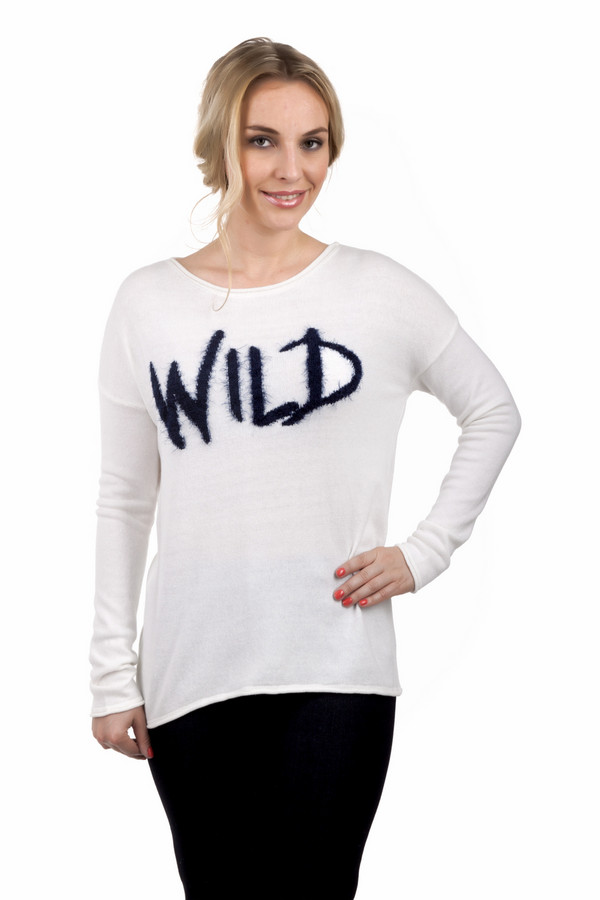 Пуловер CommaПуловеры<br>Белый пуловер от бренда Comma прямого кроя. Изделие дополнено: вырезом-лодочка, рукавами-кимоно. Пуловер декорирован надписью.<br><br>Размер RU: 48<br>Пол: Женский<br>Возраст: Взрослый<br>Материал: хлопок 27%, полиамид 73%<br>Цвет: Белый