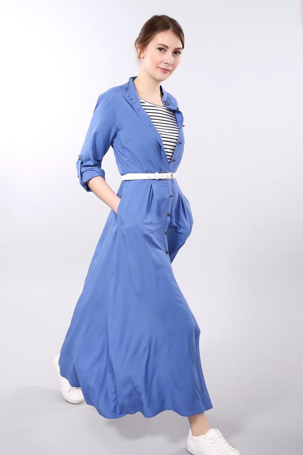 Платье PezzoПлатья<br><br><br>Размер RU: 48<br>Пол: Женский<br>Возраст: Взрослый<br>Материал: вискоза 100%<br>Цвет: Синий