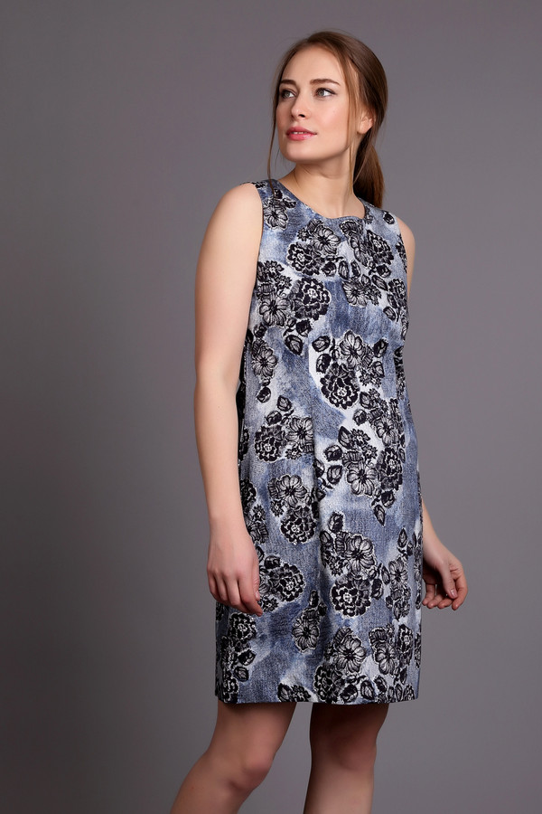 Платье PezzoПлатья<br><br><br>Размер RU: 50<br>Пол: Женский<br>Возраст: Взрослый<br>Материал: хлопок 97%, спандекс 3%<br>Цвет: Разноцветный