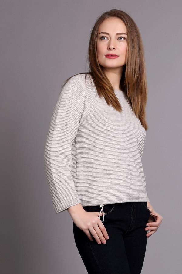 Пуловер OuiПуловеры<br><br><br>Размер RU: 44<br>Пол: Женский<br>Возраст: Взрослый<br>Материал: хлопок 60%, полиэстер 40%<br>Цвет: Серый