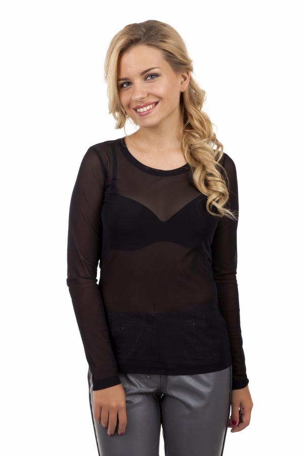 Блузa ApanageБлузы<br>Экстравагантная прозрачная черная блуза Apanage прилегающего кроя. Изделие дополнено круглым вырезом.<br><br>Размер RU: 44<br>Пол: Женский<br>Возраст: Взрослый<br>Материал: эластан 6%, полиамид 94%<br>Цвет: Чёрный