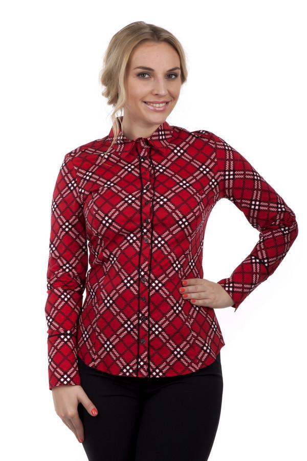 Рубашка с длинным рукавом Betty BarclayДлинный рукав<br>Красная клетчатая рубашка Betty Barclay приталенного кроя. Изделие дополнено: классическим воротником, длинными рукавами и манжетами с застежкой на пуговицах. Центральная часть застегивается на планку с пуговицами. Стильная, яркая рубашка с легкостью дополнит повседневный образ.<br><br>Размер RU: 42<br>Пол: Женский<br>Возраст: Взрослый<br>Материал: эластан 3%, хлопок 97%<br>Цвет: Разноцветный