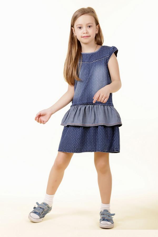 Платье s.OliverПлатья<br><br><br>Размер RU: 32;128<br>Пол: Женский<br>Возраст: Детский<br>Материал: хлопок 100%<br>Цвет: Синий