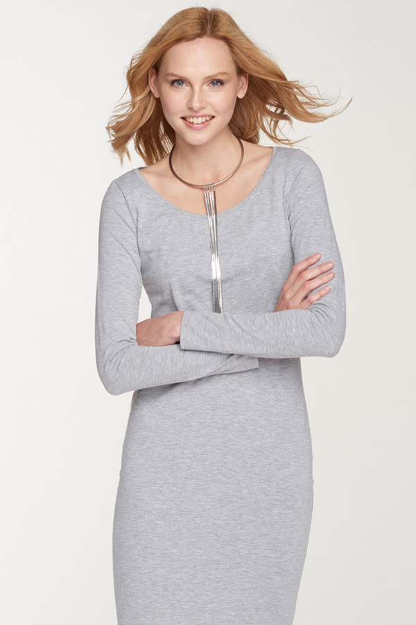 Платье Oh, myПлатья<br><br><br>Размер RU: 40-42<br>Пол: Женский<br>Возраст: Взрослый<br>Материал: хлопок 92%, лайкра 8%<br>Цвет: Серый