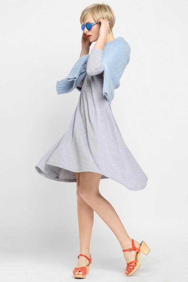 Платье Oh, myПлатья<br><br><br>Размер RU: 46-48<br>Пол: Женский<br>Возраст: Взрослый<br>Материал: хлопок 92%, лайкра 8%<br>Цвет: Серый