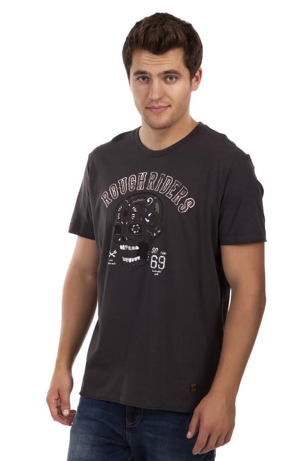 Футболкa s.OliverФутболки<br>Мужская футболка от бренда s.Oliver выполнены из натурального хлопкового материала темно-серого цвета. Изделие дополнено: круглым вырезом и короткими рукавами. Футболка декорирована принтом с надписью и черепом.<br><br>Размер RU: 50-52<br>Пол: Мужской<br>Возраст: Взрослый<br>Материал: хлопок 100%<br>Цвет: Серый