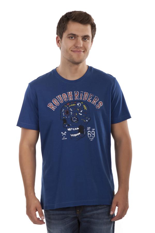 Футболкa s.OliverФутболки<br>Мужская футболка от бренда s.Oliver выполнены из натурального хлопкового материала синего цвета. Изделие дополнено: круглым вырезом и короткими рукавами. Футболка декорирована принтом с надписью и черепом.<br><br>Размер RU: 46-48<br>Пол: Мужской<br>Возраст: Взрослый<br>Материал: хлопок 100%<br>Цвет: Синий