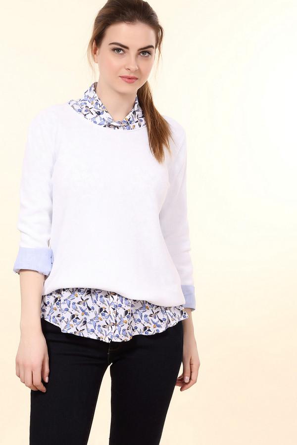 женский пуловер monari, белый