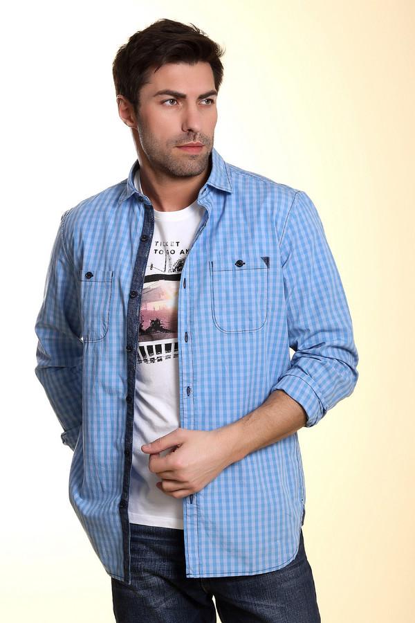 Рубашка с длинным рукавом s.OliverДлинный рукав<br><br><br>Размер RU: 48-50<br>Пол: Мужской<br>Возраст: Взрослый<br>Материал: хлопок 100%<br>Цвет: Голубой