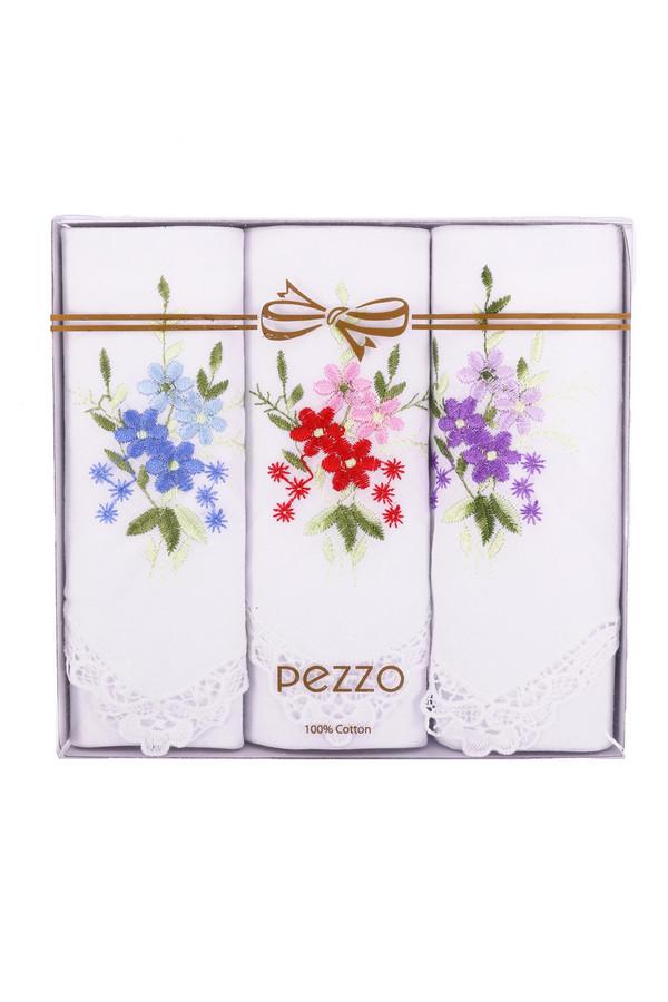 Носовые платки PezzoНосовые платки<br><br><br>Размер RU: один размер<br>Пол: Женский<br>Возраст: Взрослый<br>Материал: хлопок 100%<br>Цвет: Белый