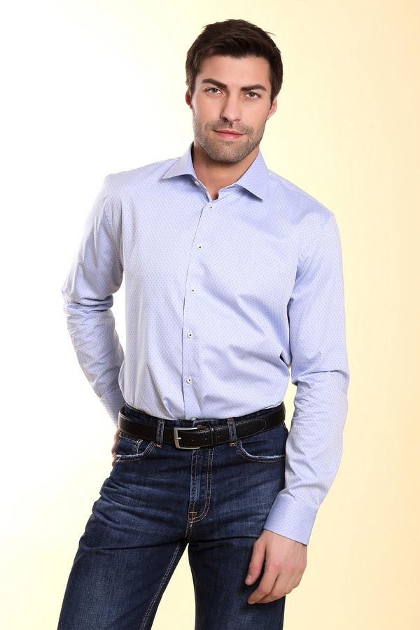 Рубашка с длинным рукавом Bugatti<br><br>Размер RU: 43-44<br>Пол: Мужской<br>Возраст: Взрослый<br>Материал: хлопок 100%<br>Цвет: Голубой