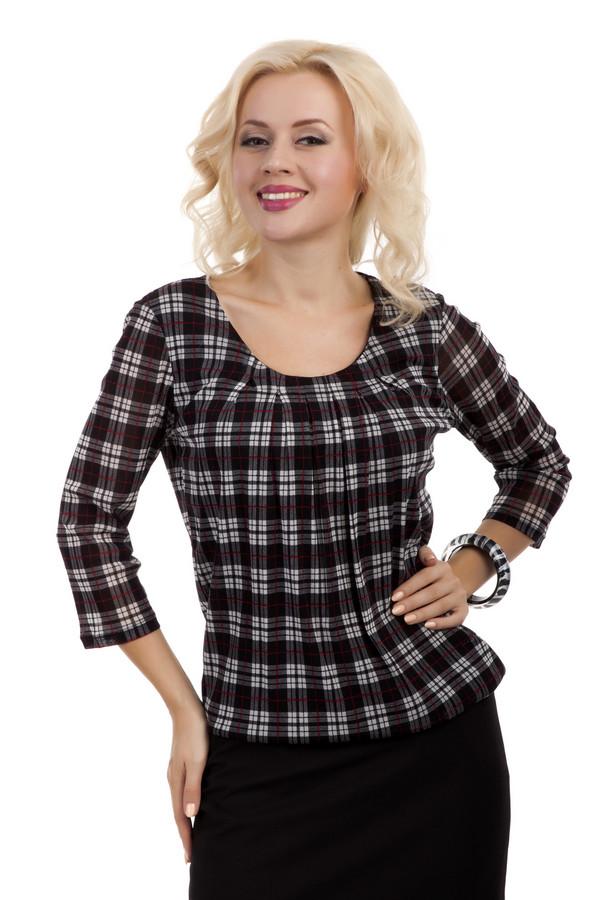 Блузa s.OliverБлузы<br>Клетчатая блуза от бренда s.Oliver свободного кроя. Изделие дополнено: u- образным вырезом и рукавами 3/4. Блуза идеально дополнит повседневный образ и будет хорошо смотреться как с  брюками , так и с  юбками .<br><br>Размер RU: 44<br>Пол: Женский<br>Возраст: Взрослый<br>Материал: полиамид 100%<br>Цвет: Разноцветный