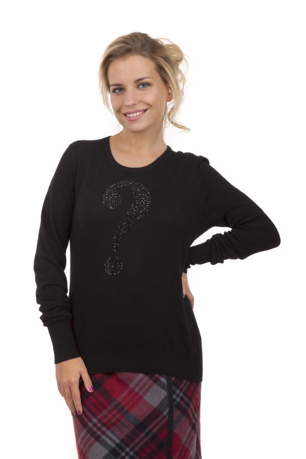 Пуловер GardeurПуловеры<br>Пуловер от бренда Gardeur прилегающего кроя выполнен из мягкого трикотажа черного цвета. Изделие дополнено: круглым вырезом и длинными рукавами. Пуловер декорирован вопросительным знаком выполненным из блестящих страз черного и серебряного цвета.<br><br>Размер RU: 52<br>Пол: Женский<br>Возраст: Взрослый<br>Материал: вискоза 35%, шерсть 29%, полиакрил 20%, кашемир 8%, кролик 8%<br>Цвет: Чёрный
