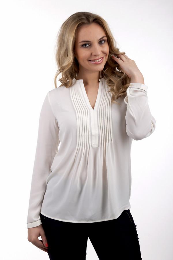 Блузa SIR OliverБлузы<br>Женская блуза бренда SIR Oliver. Это полупрозрачная блуза молочного оттенка, с длинным рукавом, пошитая из летящей ткани. Изделие изготовлено из 100% полиэстера. Рукав данного изделия украшен окантовкой из страз.<br><br>Размер RU: 46<br>Пол: Женский<br>Возраст: Взрослый<br>Материал: полиэстер 100%<br>Цвет: Белый