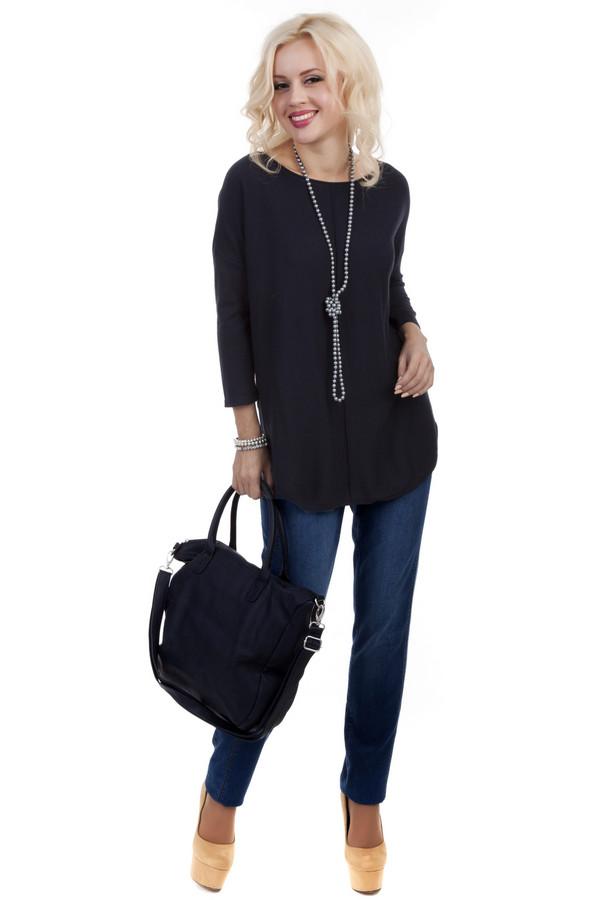 Пуловер SIR OliverПуловеры<br>Женский удлиненный пуловер от бренда SIR Oliver. Это пуловер черного цвета, свободного покроя. Изделие дополнено круглым вырезом и рукавом длиной три четверти. Материал - хлопок с добавлением полиамида и шелка.<br><br>Размер RU: 40<br>Пол: Женский<br>Возраст: Взрослый<br>Материал: полиамид 20%, шелк 10%, хлопок 70%<br>Цвет: Чёрный