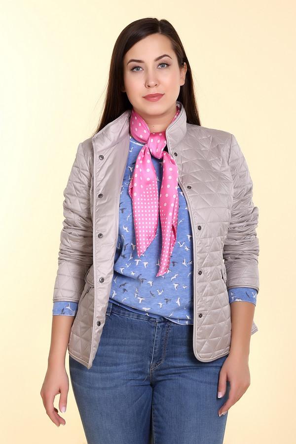 Куртка LebekКуртки<br><br><br>Размер RU: 52<br>Пол: Женский<br>Возраст: Взрослый<br>Материал: полиэстер 100%, Состав_подкладка полиэстер 100%<br>Цвет: Серый
