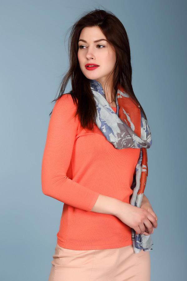 Пуловер TaifunПуловеры<br><br><br>Размер RU: 48<br>Пол: Женский<br>Возраст: Взрослый<br>Материал: эластан 3%, полиамид 17%, хлопок 48%, вискоза 16%, модал 16%<br>Цвет: Оранжевый