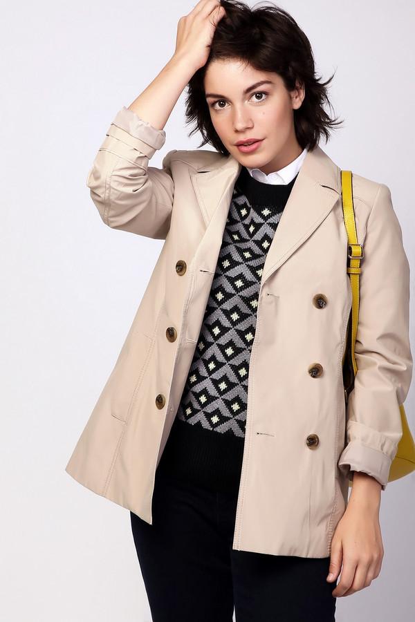 Куртка MiltonКуртки<br><br><br>Размер RU: 54<br>Пол: Женский<br>Возраст: Взрослый<br>Материал: полиэстер 37%, хлопок 63%<br>Цвет: Бежевый