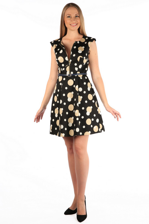Платье MiltonПлатья<br><br><br>Размер RU: 46<br>Пол: Женский<br>Возраст: Взрослый<br>Материал: эластан 3%, хлопок 97%<br>Цвет: Разноцветный