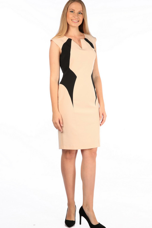 Платье MiltonПлатья<br><br><br>Размер RU: 50<br>Пол: Женский<br>Возраст: Взрослый<br>Материал: полиэстер 100%<br>Цвет: Бежевый