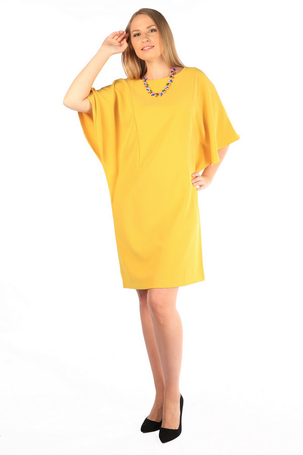 Платье MiltonПлатья<br><br><br>Размер RU: 52<br>Пол: Женский<br>Возраст: Взрослый<br>Материал: полиэстер 100%<br>Цвет: Жёлтый