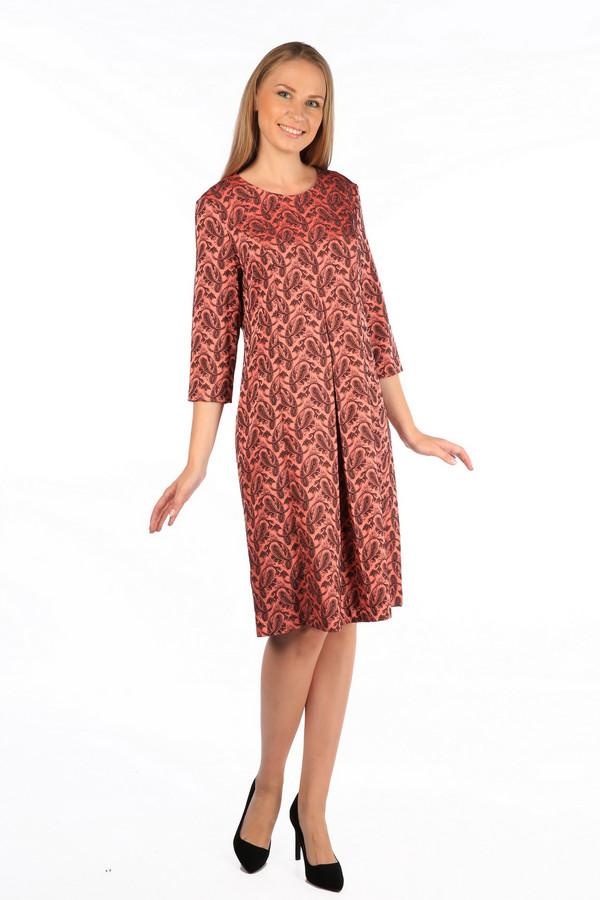 Платье MiltonПлатья<br><br><br>Размер RU: 52<br>Пол: Женский<br>Возраст: Взрослый<br>Материал: полиэстер 70%, вискоза 27%, спандекс 3%<br>Цвет: Разноцветный