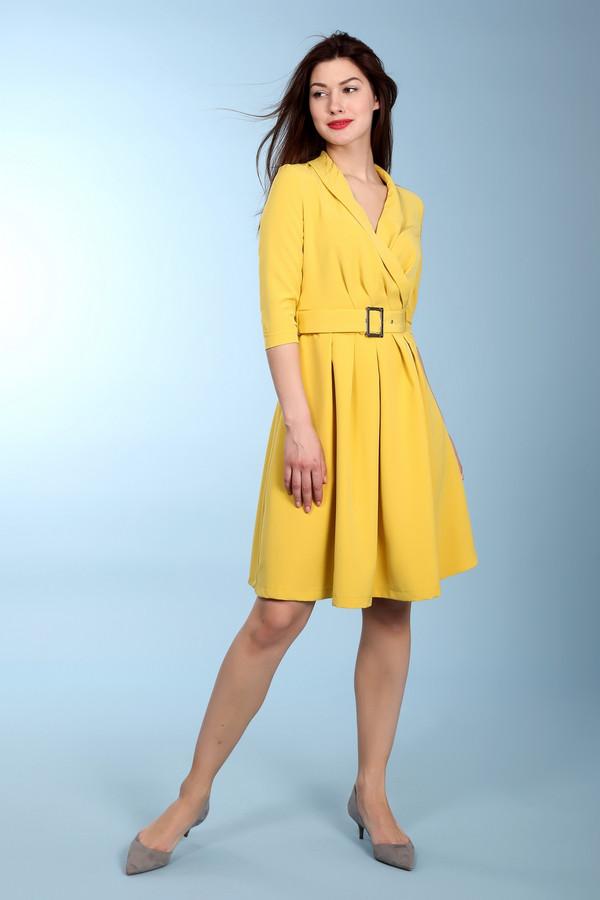 Платье MiltonПлатья<br><br><br>Размер RU: 48<br>Пол: Женский<br>Возраст: Взрослый<br>Материал: полиэстер 95%, спандекс 5%<br>Цвет: Жёлтый