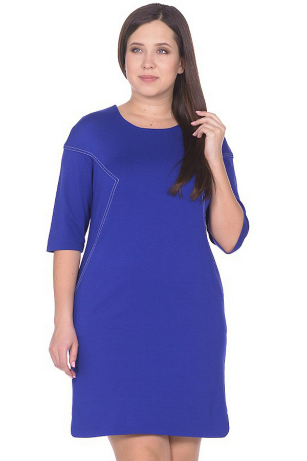 Платье MiltonПлатья<br><br><br>Размер RU: 50<br>Пол: Женский<br>Возраст: Взрослый<br>Материал: вискоза 65%, нейлон 30%, спандекс 5%<br>Цвет: Синий