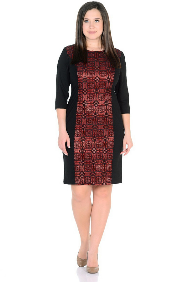 Платье MiltonПлатья<br><br><br>Размер RU: 48<br>Пол: Женский<br>Возраст: Взрослый<br>Материал: вискоза 65%, нейлон 30%, спандекс 5%<br>Цвет: Разноцветный
