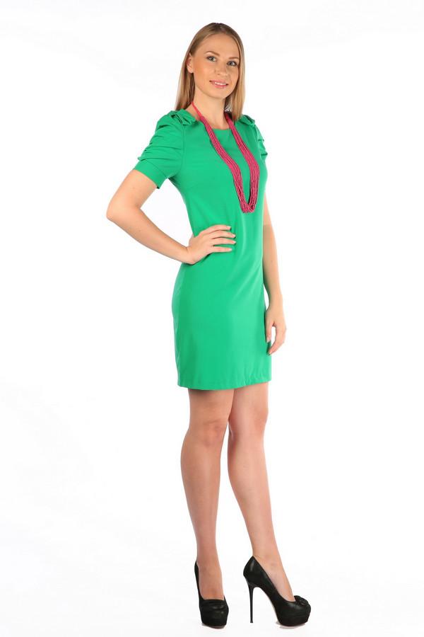 Платье MiltonПлатья<br><br><br>Размер RU: 42<br>Пол: Женский<br>Возраст: Взрослый<br>Материал: полиэстер 35%, хлопок 65%<br>Цвет: Зелёный