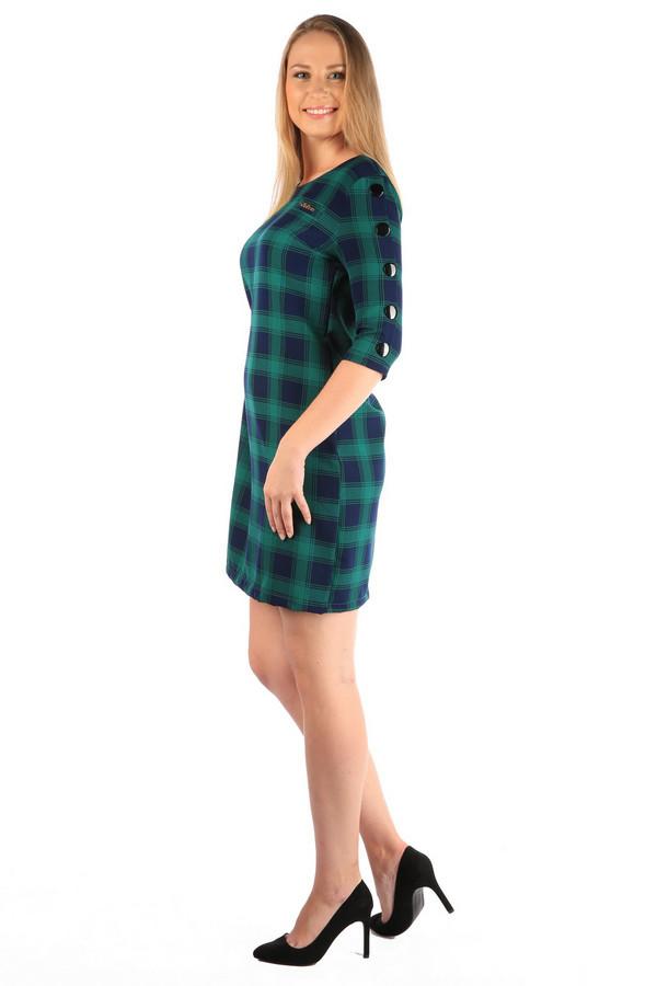 Платье MiltonПлатья<br><br><br>Размер RU: 52<br>Пол: Женский<br>Возраст: Взрослый<br>Материал: хлопок 35%, полиэстер 65%<br>Цвет: Разноцветный