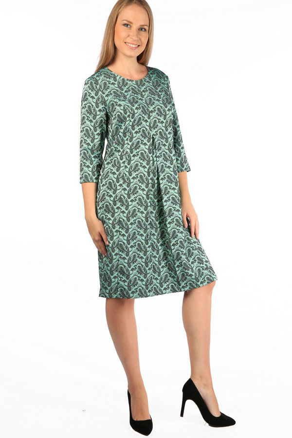 Платье MiltonПлатья<br><br><br>Размер RU: 52<br>Пол: Женский<br>Возраст: Взрослый<br>Материал: полиэстер 70%, вискоза 27%, спандекс 3%<br>Цвет: Зелёный