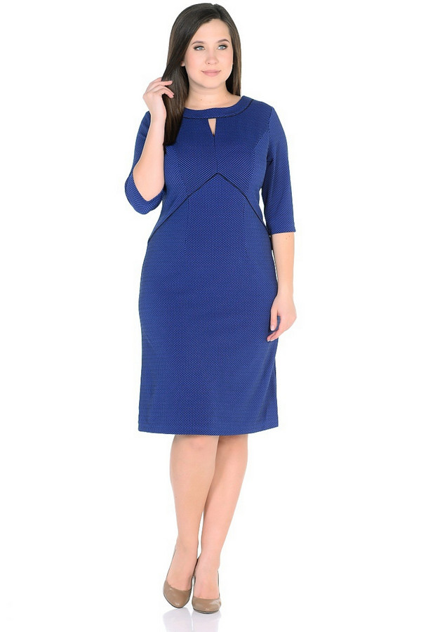 Платье MiltonПлатья<br><br><br>Размер RU: 46<br>Пол: Женский<br>Возраст: Взрослый<br>Материал: полиэстер 65%, вискоза 30%, спандекс 5%<br>Цвет: Синий