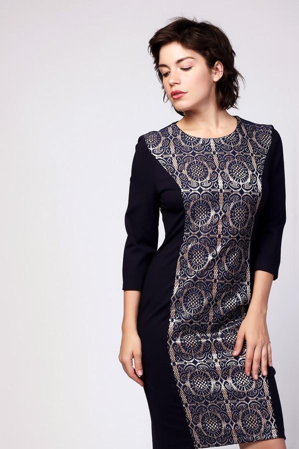 Платье MiltonПлатья<br><br><br>Размер RU: 44<br>Пол: Женский<br>Возраст: Взрослый<br>Материал: вискоза 65%, нейлон 30%, спандекс 5%<br>Цвет: Синий