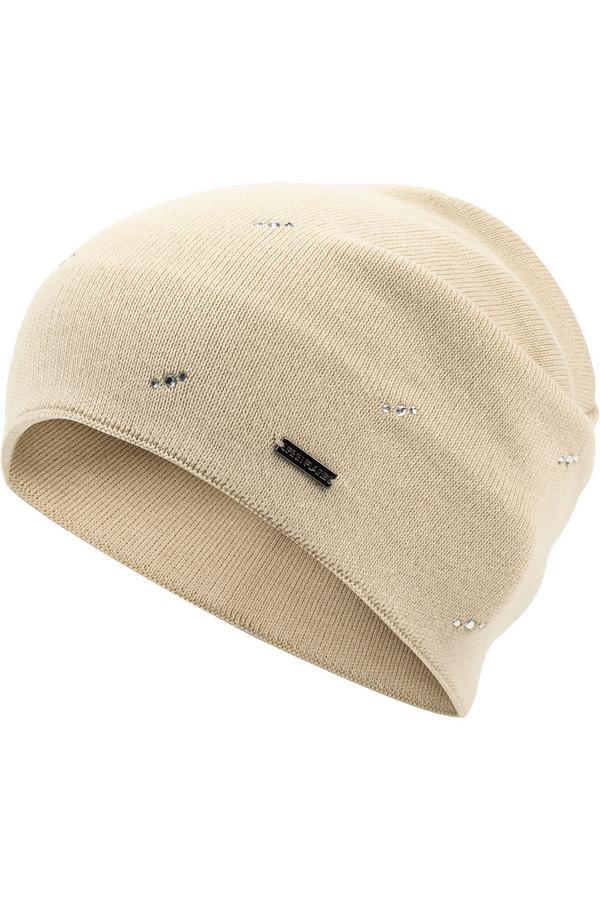 Шапка FINN FLAREШапки<br>Симпатичная шапка популярной модели «бини», которая полюбилась и детям, и взрослым по всему миру. Удобство и стиль объединились в одном аксессуаре, и это не может не нравиться. Модель выполнена из удачного сочетания акрила и хлопка, что делает эту шапку теплой. По всему изделию шапка украшена сверкающими камнями.<br><br>Размер RU: 56<br>Пол: Женский<br>Возраст: Взрослый<br>Материал: хлопок 50%, акрил 50%<br>Цвет: Бежевый