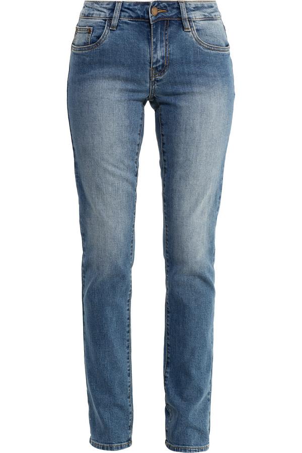 Джинсы FINN FLAREДжинсы<br>Прямые классические джинсы – основа любого гардероба в стиле casual. Такую модель можно сочетать абсолютно со всеми видами топов и обуви. Спереди и сзади джинсы выполнены с потертостями. Модель выполнена из высококачественного хлопка с небольшим содержанием эластана.<br><br>Размер RU: 44<br>Пол: Женский<br>Возраст: Взрослый<br>Материал: эластан 2%, хлопок 98%<br>Цвет: Голубой