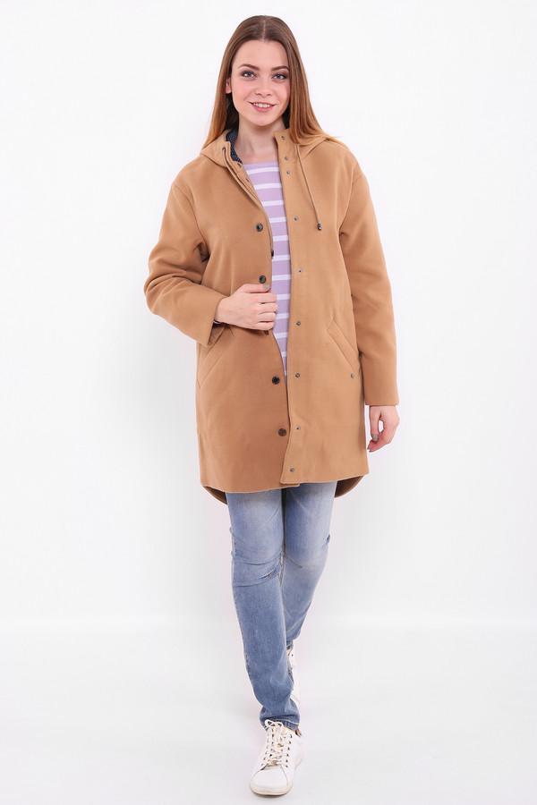 Купить Пальто FINN FLARE, Китай, Бежевый, полиэстер 90%, вискоза 10%, Состав_подкладка полиэстер 100%