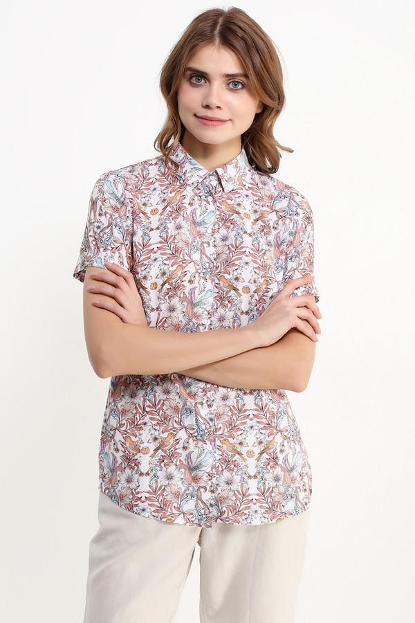 Блузa FINN FLAREБлузы<br>Практичная блузка с короткими рукавами и приталенного силуэта – любимая модель большинства женщин, предпочитающих комфорт прежде всего. Эта вещь также примечательна своим красочным цветочным принтом. Воротник можно оставить в застегнутом виде либо расстегнуть пару пуговиц для более привлекательного силуэта.<br><br>Размер RU: 42<br>Пол: Женский<br>Возраст: Взрослый<br>Материал: вискоза 100%<br>Цвет: Разноцветный