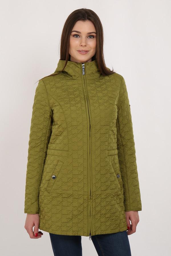 Куртка FINN FLAREКуртки<br>Стильная прямая куртка с небольшим утеплителем – отличный вариант демисезонной верхней одежды. Аккуратный воротник плавно переходит в несъемный капюшон. Стёганая в интересный узор модель имеет прорезные карманы на кнопках, застёгивается на молнию. Подкладка и утеплитель выполнены из полиэстера, обладающего незаменимыми свойствами по отводу влаги от поверхности кожи.<br><br>Размер RU: 46<br>Пол: Женский<br>Возраст: Взрослый<br>Материал: полиэстер 100%<br>Цвет: Зелёный