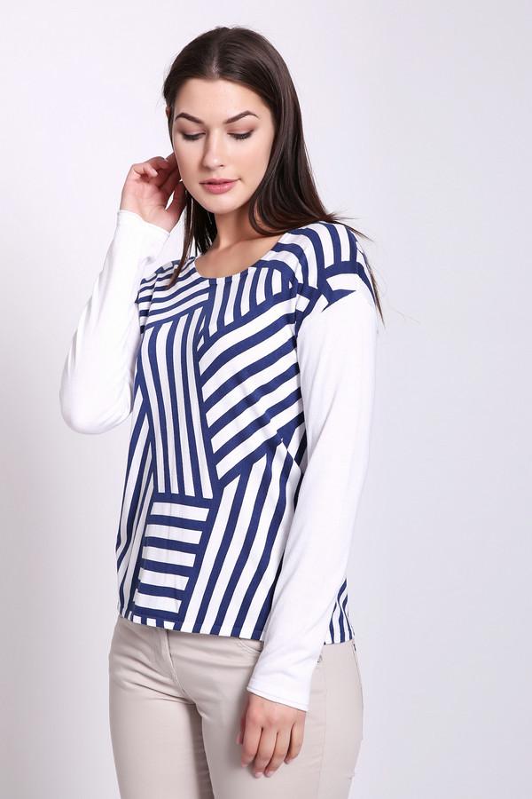 Пуловер Gerry WeberПуловеры<br>Пуловер женский белого цвета фирмы Gerry Weber. Модель выполнена прямым покроем. Изделие дополнено округлым воротом, втачными, длинными рукавами. Ткань имеет принт. Состав ткани: 60% вискозы, 40% хлопка. Гармонировать можно с различными брюками.