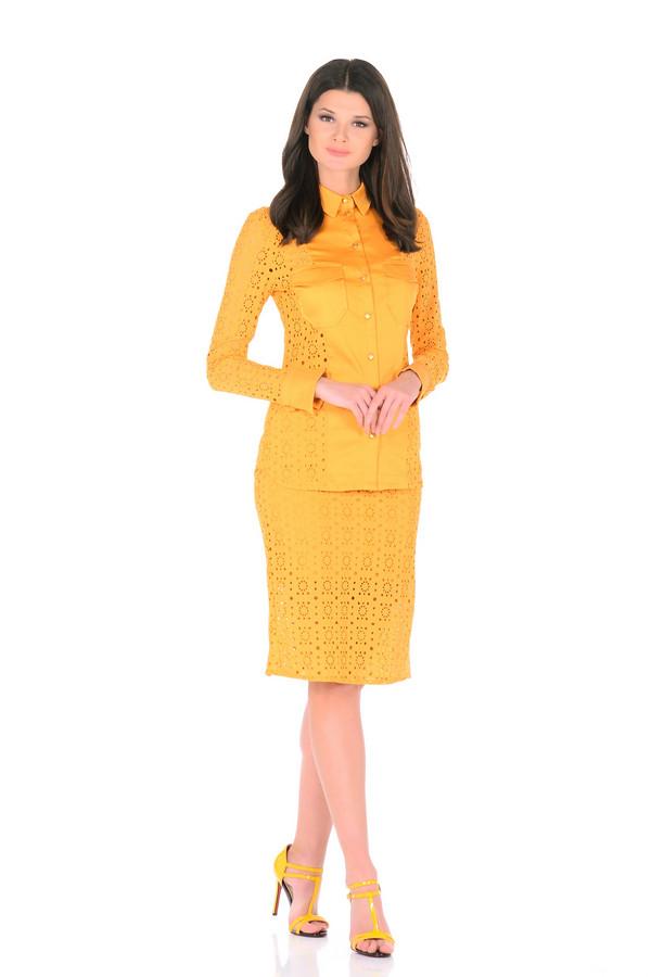 Блузa XARIZMASБлузы<br><br><br>Размер RU: 40<br>Пол: Женский<br>Возраст: Взрослый<br>Материал: хлопок 95%, эластан 5%<br>Цвет: Жёлтый