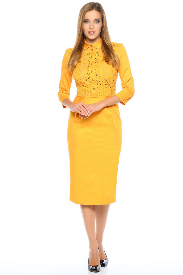 Платье XARIZMASПлатья<br><br><br>Размер RU: 48<br>Пол: Женский<br>Возраст: Взрослый<br>Материал: хлопок 95%, эластан 5%<br>Цвет: Жёлтый